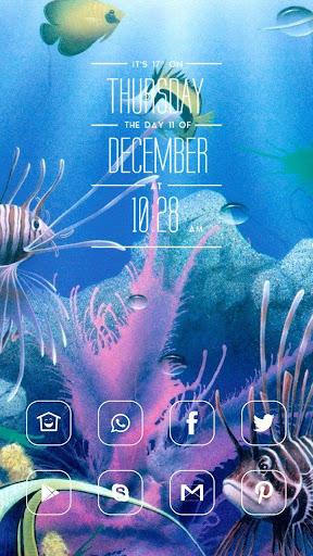 粉色海洋动物主题