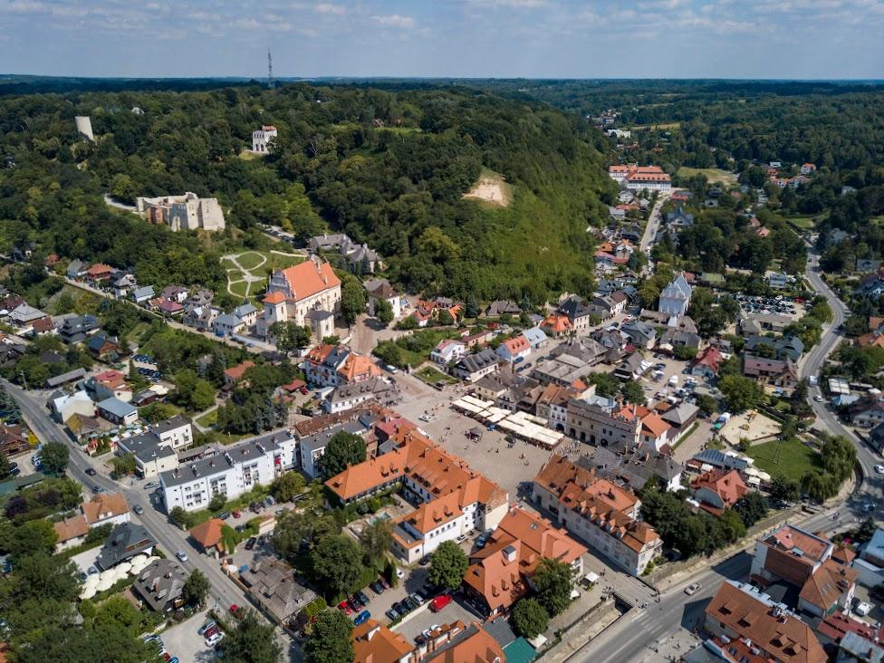 Kazimierz Dolny, widok z drona