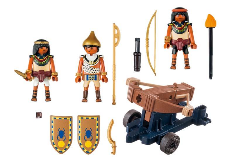 Contenido real de Playmobil® 5388 Egipcios con Catapulta