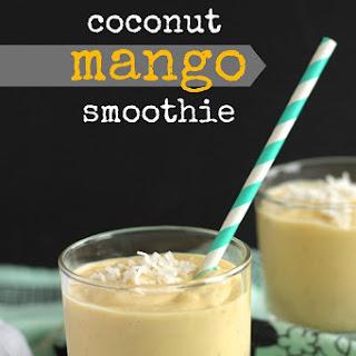 Coconut Mango Smoothie.