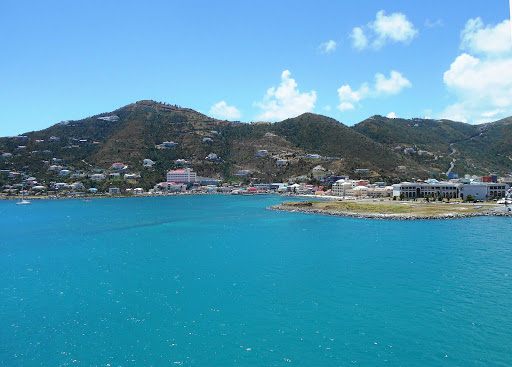 Tortola on Silver Muse.jpg - Silver Muse moored off pretty Tortola, largest of the British Virgin Isles.