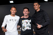 FIFA Ballon d'Or nominees Neymar Jr of Brazil (L), Lionel Messi of Barcelona (C) and Cristiano Ronaldo of Juventus attend a press conference prior to the FIFA Ballon d'Or Gala 2015 at the Kongresshaus on January 11, 2016 in Zurich, Switzerland.