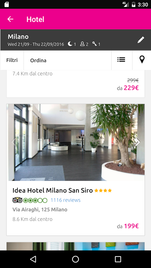 lastminute.com hotel & voli- screenshot
