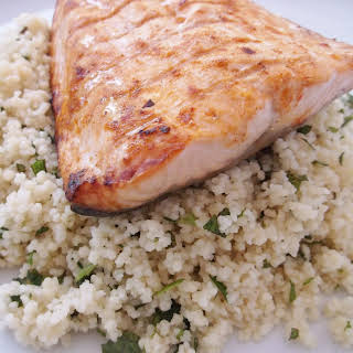 Harissa Salmon with Herby Couscous.