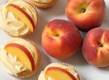 Peach cupcake with peach cream cheese