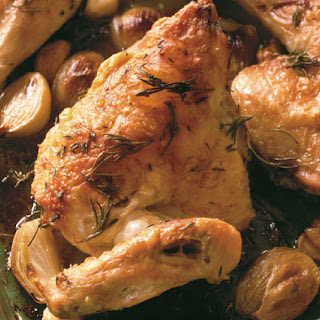 Baked Chicken with Herbs, Garlic & Shallots.