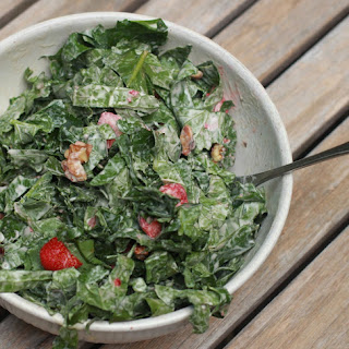 Strawberry Walnut Kale Salad