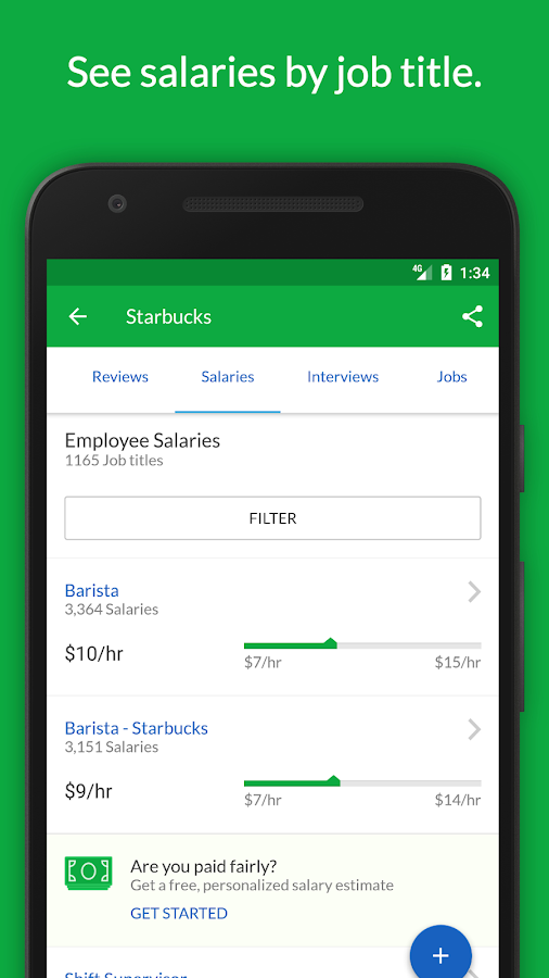 job search salaries reviews android apps on google play