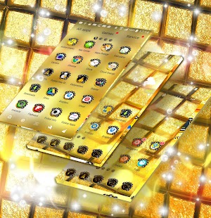 GO Launcher Gold Theme - náhled