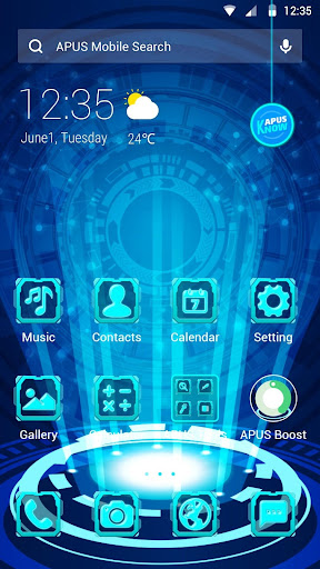 Cool Neon Technology theme for android free - screenshot