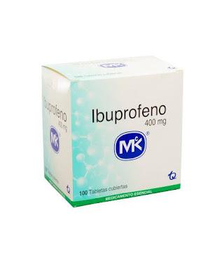 Ibuprofeno MK 400mg   Tableta caja x100Tab.