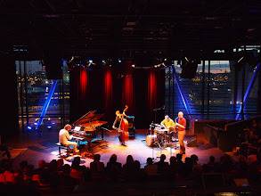 Photo: BIM Huis Sunday afternoon, the Michael Moore 4tet (notice Amsterdam by dusk in the background)