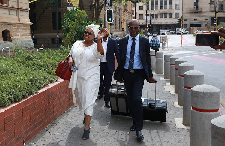 Dudu Myeni at the high court in Pretoria on February 20 2020. She told the court she did not attend court proceedings last year because her financial means were limited.