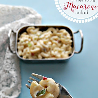 Easy Homemade Macaroni Salad.