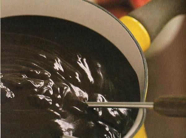 Mexican Hot Chocolate Fondue Recipe