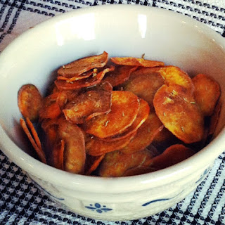 Paleo Rosemary and Sea Salt Sweet Potato Chips