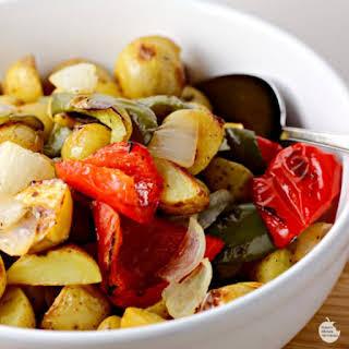 Oven Roasted O'Brien Potatoes.