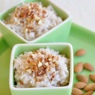 Almond Rice Pudding.