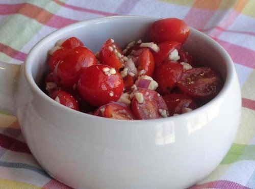"""Grape Tomato Salad """"This was delicious! I've prepared it several times since..."""