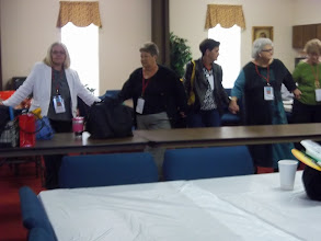 Photo: Rev. Marla Brock from Waycross at left led a wonderful workshop on relationships
