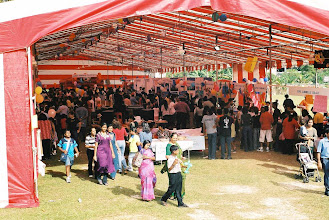Photo: Under a Big Tent we had Umping Castles, many games and foodshops.