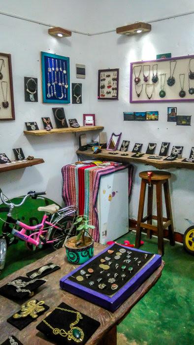 a antique jewelery shop in Samaipata, bolivia.