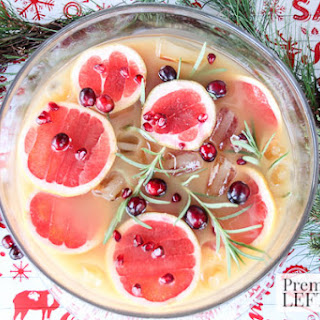 Grapefruit & Pomegranate Punch with Rosemary