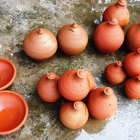 Piggy banks by Tutu Bains Kottai - Artistic Objects Cups, Plates & Utensils (  )