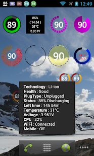 Battery Widget Plus- screenshot thumbnail