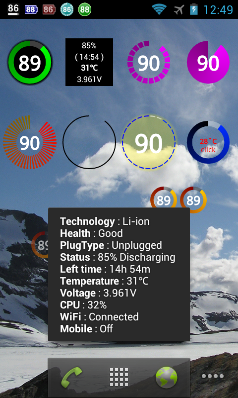 Battery Widget Plus- screenshot