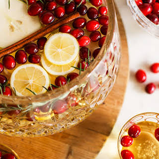 Sparkling Apple, Pear & Cranberry White Sangria.