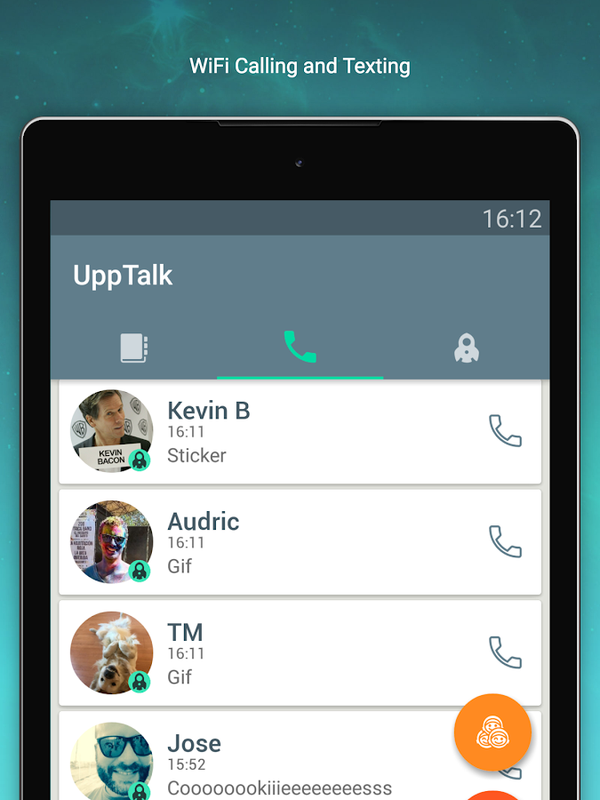 UppTalk WiFi Calling & Texting- screenshot