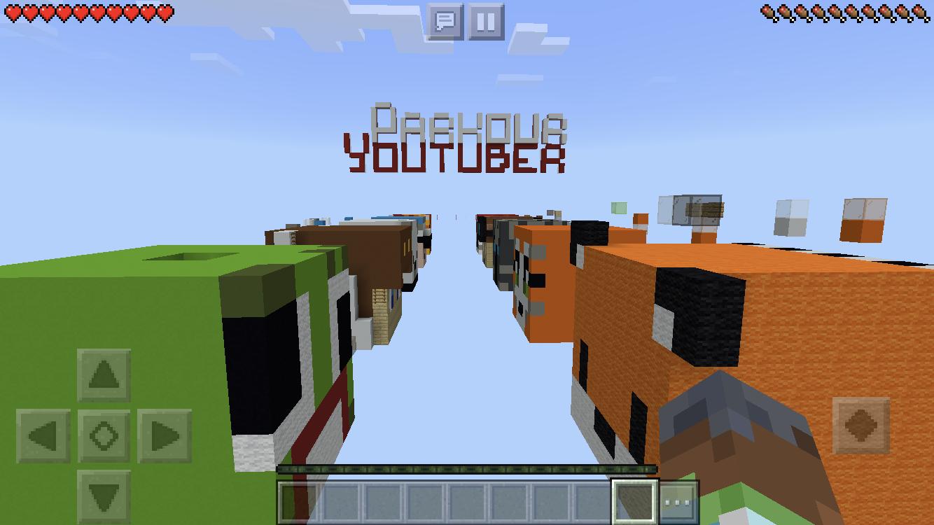 Youtuber Parkour in Minecraft