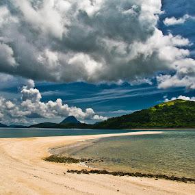 Sandbar Beach by Bong Flores - Landscapes Beaches ( clouds, sand, iloilo, summer, beach, paradise, philippines, island )