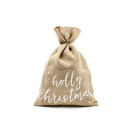 Jutesäck - Holly christmas