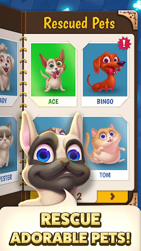 Solitaire Pets Adventure - Free Classic Card Game screenshots 4