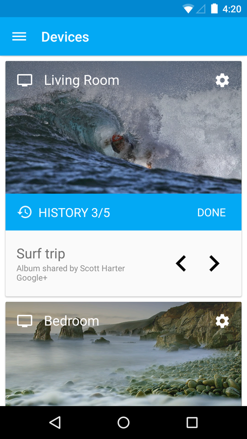 Chromecast- screenshot