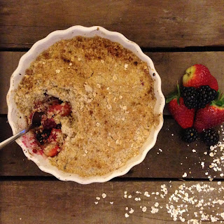 Apple, Blackberry and Strawberry Crumble Recipe