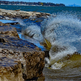 Waves in Oakville by Marc Loranger - Nature Up Close Water ( waves )