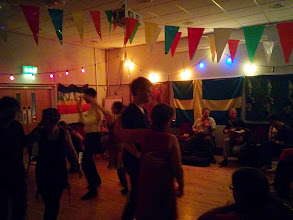 Photo: Late night, dancing surrounded by musicians at 2:15 am.