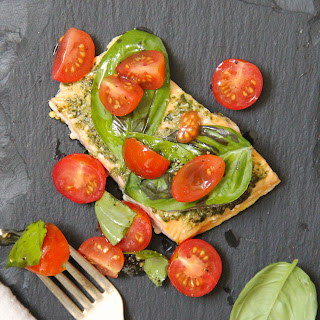 Basil Baked Salmon with Cherry Tomato Salad
