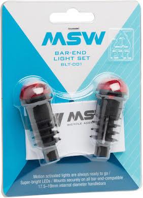 MSW Bar End Lightset with Motion Sensor: Black/Red alternate image 0