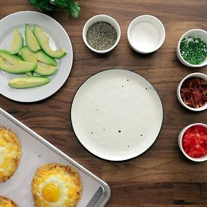 Egg, Avocado, & Bacon Breakfast Naan Pizzas