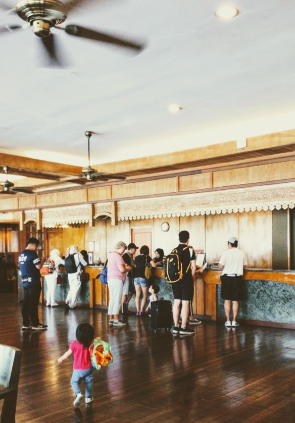 Reception area of Berjaya Tioman Resort