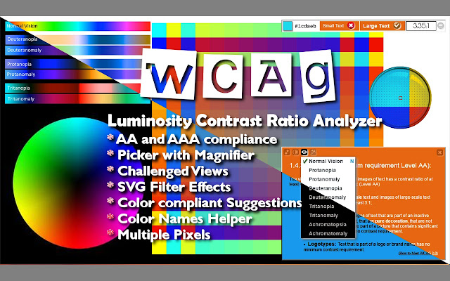 WCAG Luminosity Contrast Ratio Analyzer