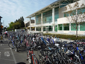 Photo: Bicycle parking in front of the ARC...always full!