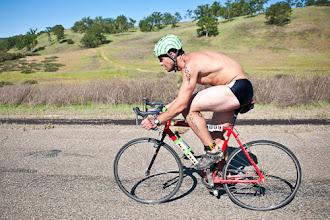 Photo: It doesn't take technology to race a triathlon.