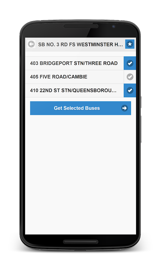 TransLink Bus Tracker- screenshot