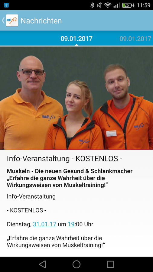 medifit Wolfhagen – Screenshot