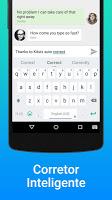 screenshot of kika keyboard for Vivo